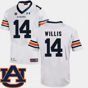 #14 Malik Willis Auburn Tigers For Men College Football SEC Patch Replica Jersey - White