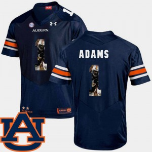 #1 Montravius Adams Auburn Tigers Men's Pictorial Fashion Football Jersey - Navy