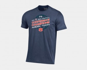 Auburn Tigers Mens 2018 SEC Champions Basketball Regular Season T-Shirt - Navy
