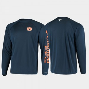 Auburn Tigers Omni-Shade For Men PFG Terminal Tackle Long Sleeve T-Shirt - Navy
