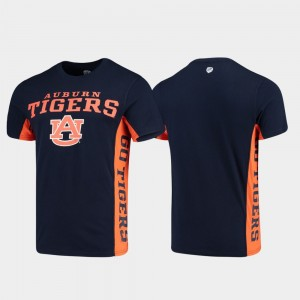 Auburn Tigers Side Bar Mens T-Shirt - Navy