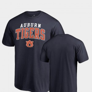 Auburn Tigers Square Up For Men T-Shirt - Navy