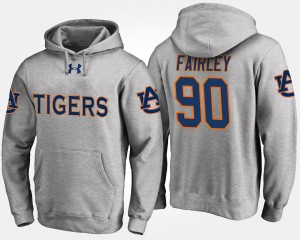#90 Nick Fairley Auburn Tigers For Men's Hoodie - Gray
