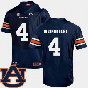 #4 Noah Igbinoghene Auburn Tigers College Football For Men SEC Patch Replica Jersey - Navy