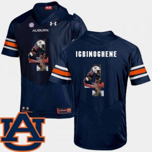 #4 Noah Igbinoghene Auburn Tigers Pictorial Fashion For Men's Football Jersey - Navy