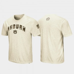 Auburn Tigers Desert Camo OHT Military Appreciation Mens T-Shirt - Oatmeal