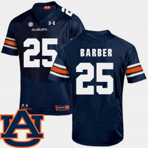 #25 Peyton Barber Auburn Tigers College Football SEC Patch Replica For Men Jersey - Navy