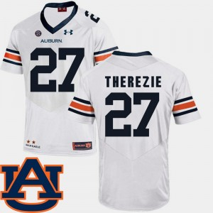 #27 Robenson Therezie Auburn Tigers For Men's College Football SEC Patch Replica Jersey - White