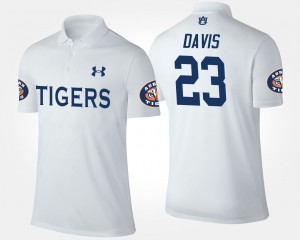 #23 Ryan Davis Auburn Tigers For Men Polo - White