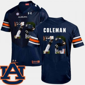 #72 Shon Coleman Auburn Tigers Football Pictorial Fashion For Men Jersey - Navy