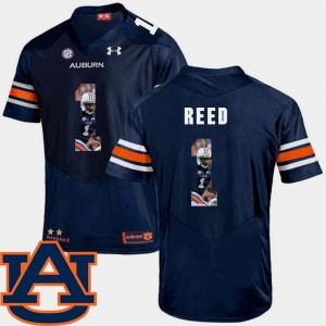 #1 Trovon Reed Auburn Tigers Pictorial Fashion Men's Football Jersey - Navy