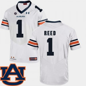 #1 Trovon Reed Auburn Tigers College Football SEC Patch Replica For Men Jersey - White
