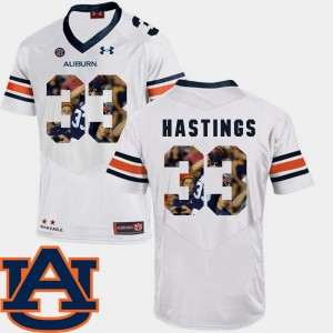 #33 Will Hastings Auburn Tigers For Men Pictorial Fashion Football Jersey - White