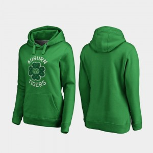 Auburn Tigers Luck Tradition St. Patrick's Day For Women's Hoodie - Kelly Green