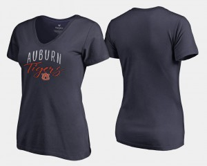 Auburn Tigers Graceful V-Neck Ladies T-Shirt - Navy